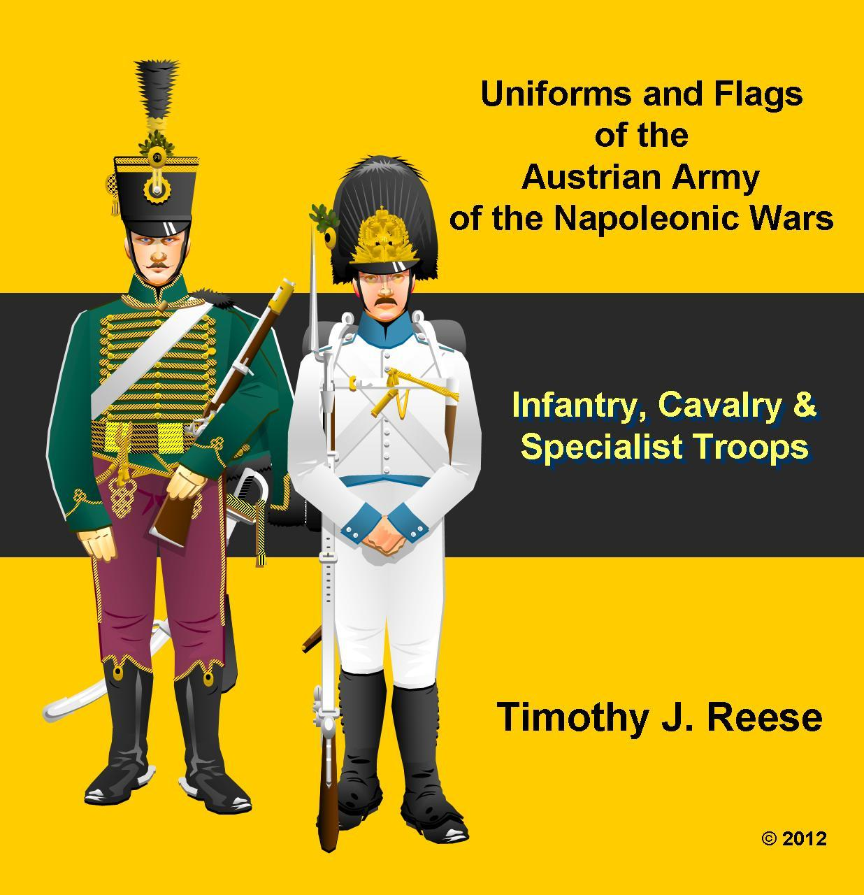 SAMPLE PLATE: Uniforms and Flags of the Austrian Army of the Napoleonic Wars
