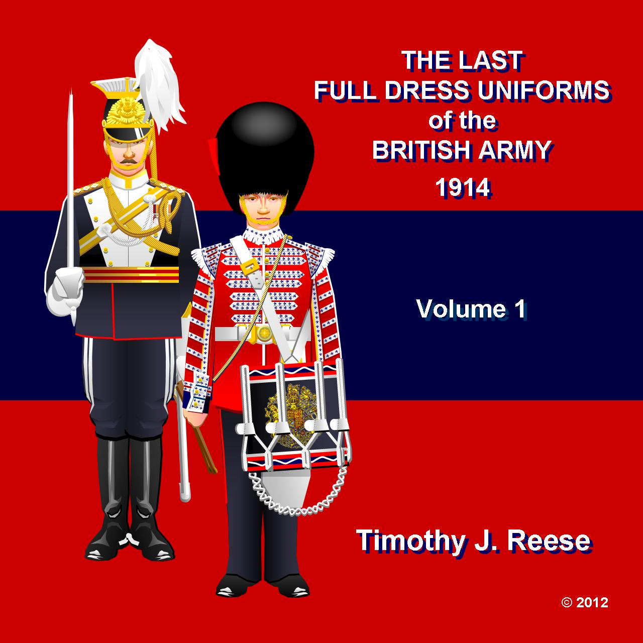 SAMPLE PLATE: The Last Full Dress Uniforms of the British Army, 1914, Volume 1