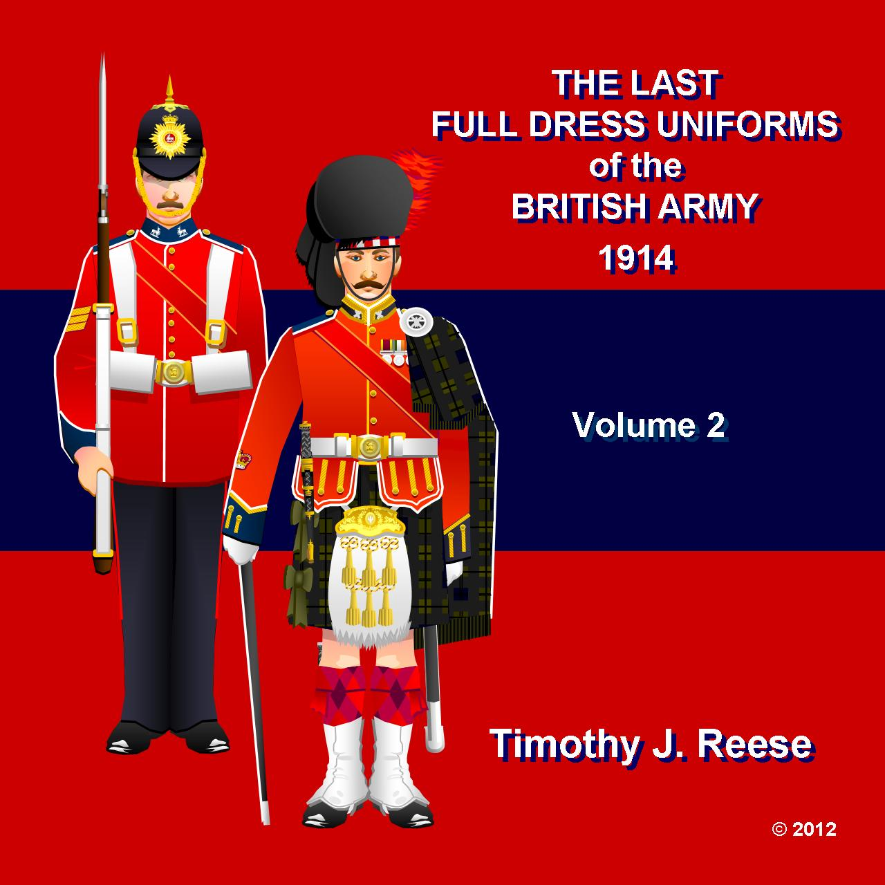 SAMPLE PLATE: The Last Full Dress Uniforms of the British Army, 1914, Volume 2